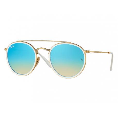 GOLD - gradient brown mirror blue