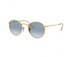 Ray Ban RB3447N 001/3F 50 Round Metal Gold