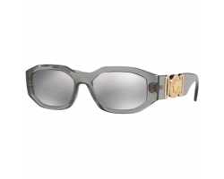 TRANSPARENT GREY - light grey mirror silver 80